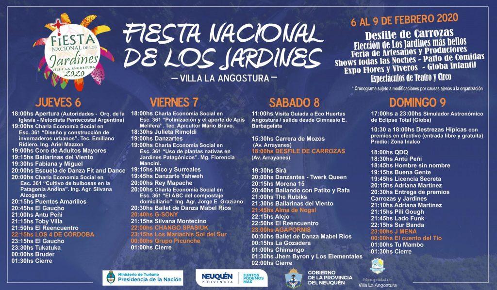 Fiesta Nacional de los Jardines Cronograma de actividades